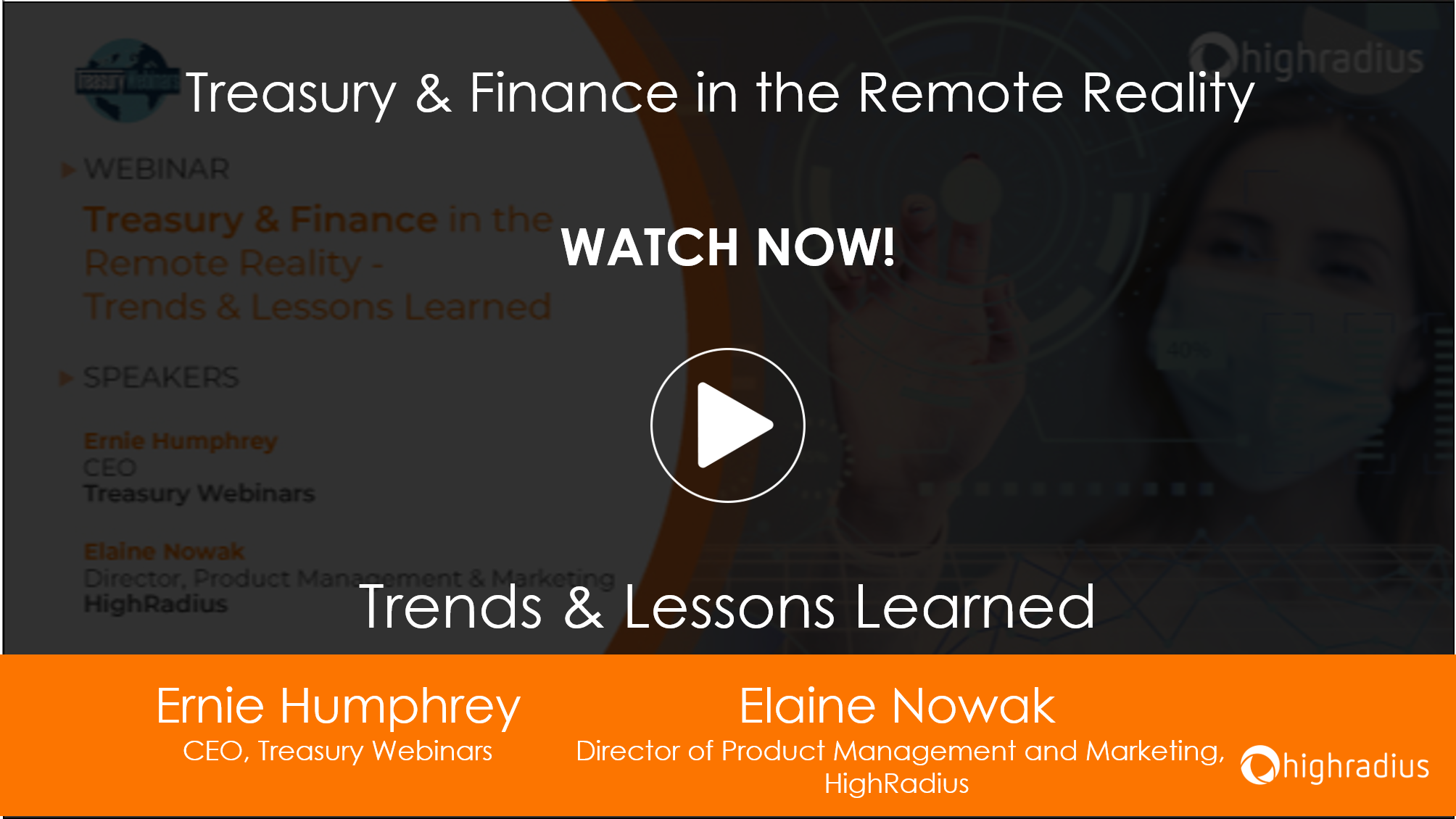 Webinar: Treaury and Financein the Remote Reality- Trends & Lessons Learnt