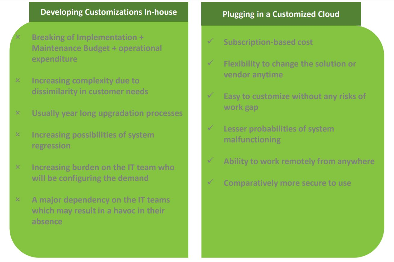 Developing Customizations In-House vs Adding a Customized Cloud