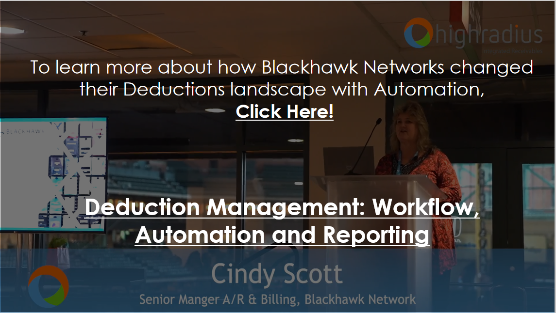 Deduction Management Workflow Automation and Reporting