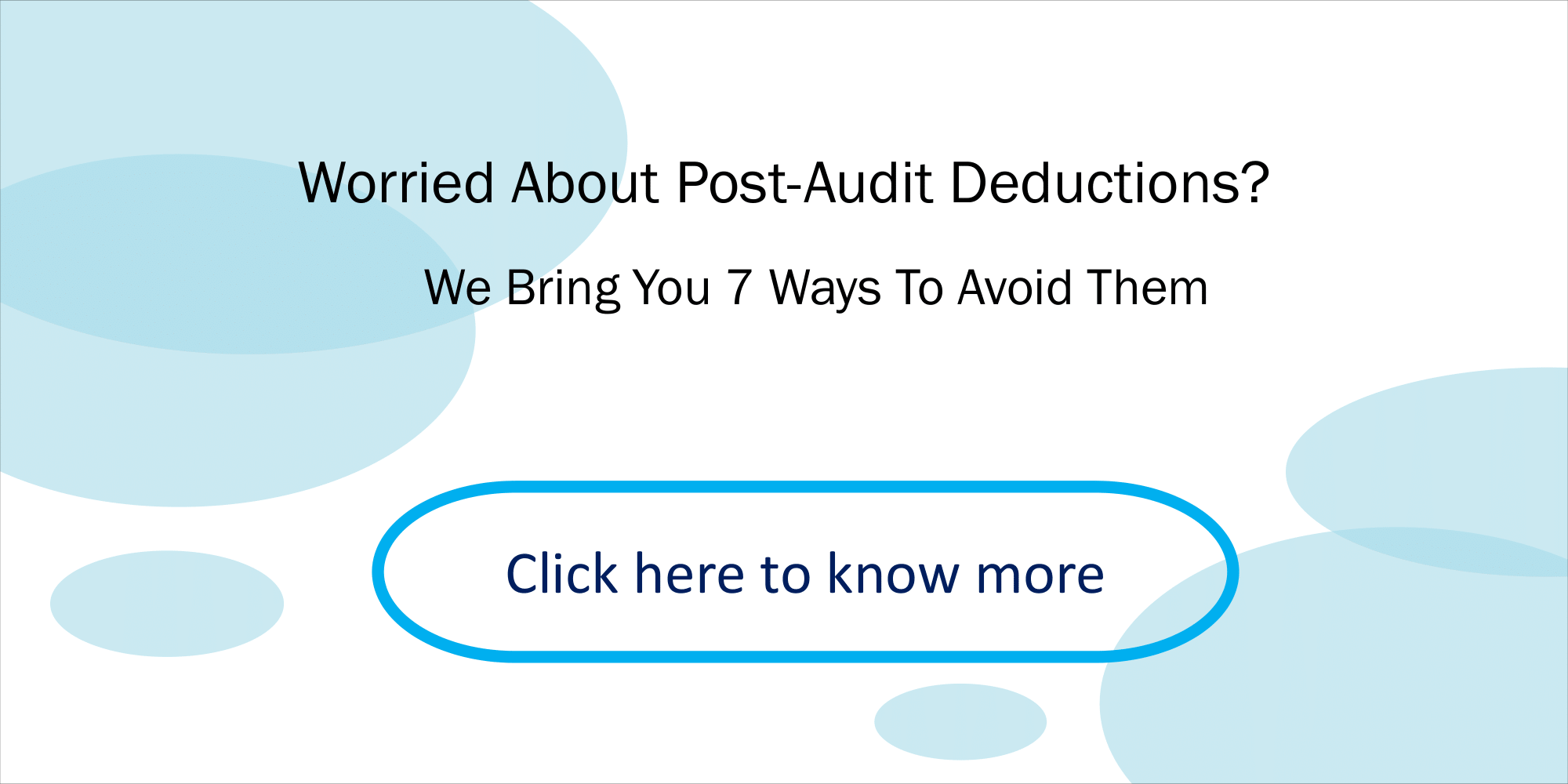 CTA-Handling Post Audit Deductions