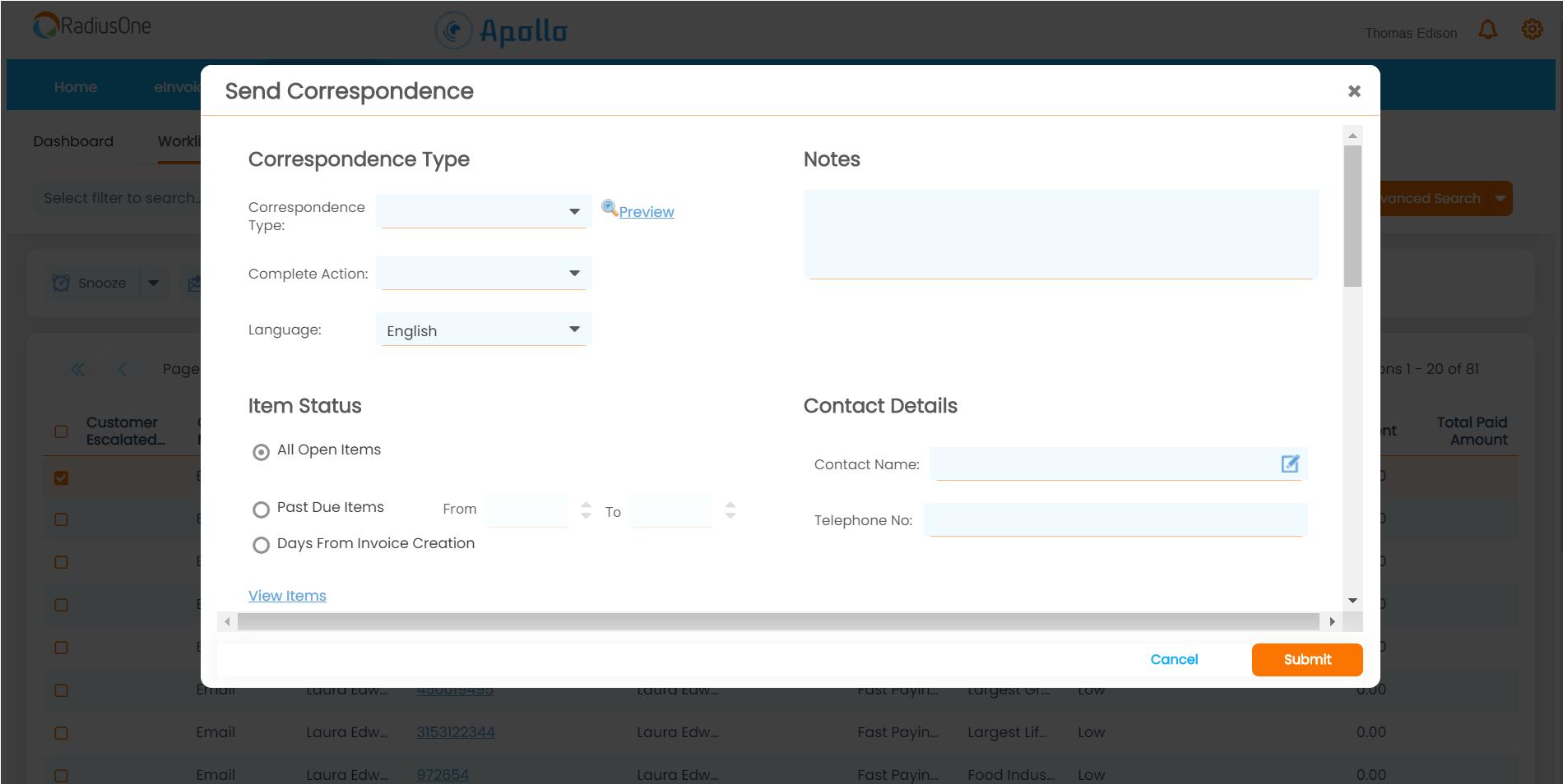 easy-to-create correspondence templates