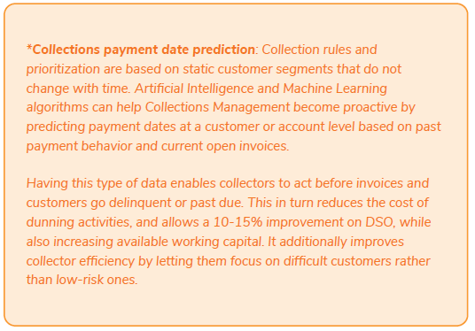 Collections payment date prediction