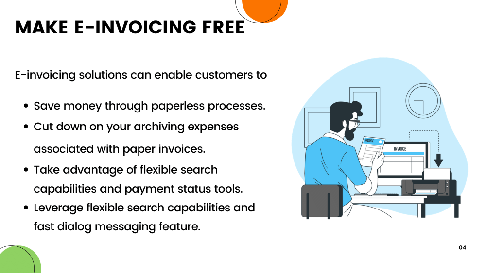 Point-2:Make e-invoicing Free