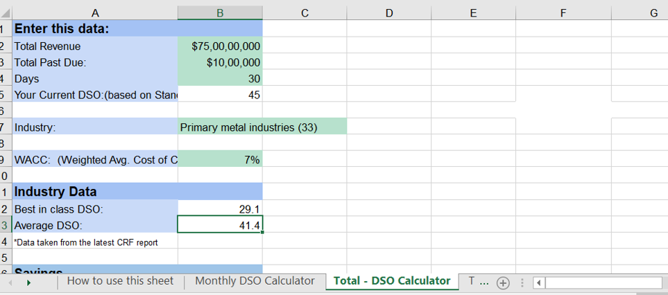 How to Calculate DSO in Excel