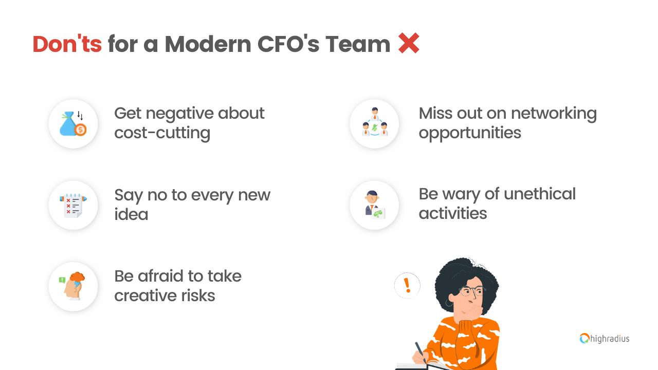 Don'ts for a Modern CFO's Team